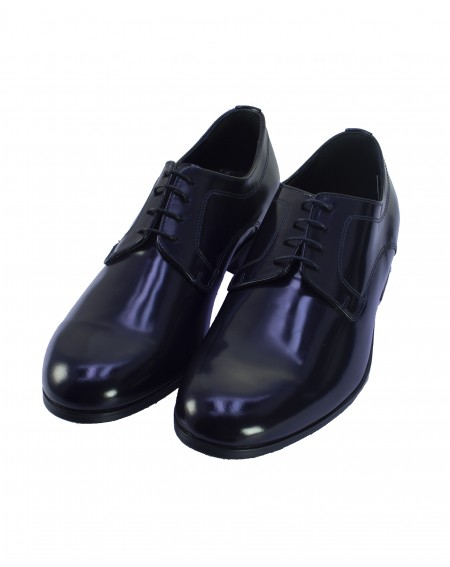SCARPA OXFORD BLU STRINGATA